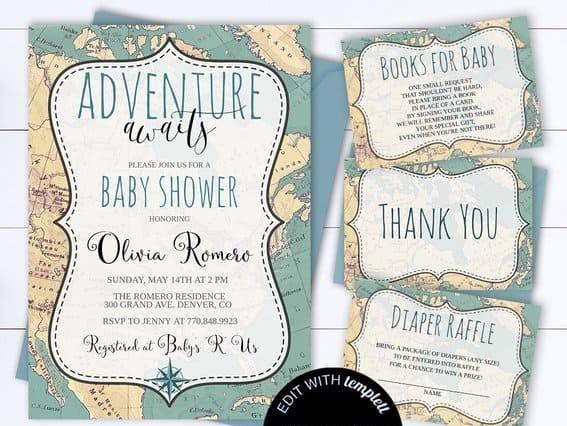 Adventure-awaits-baby-shower-invitation