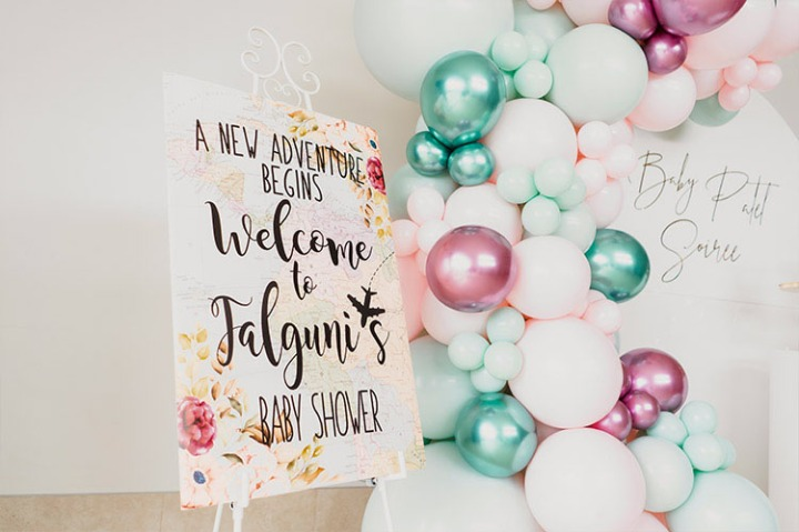 Baby-shower-backdrop-travel-theme-